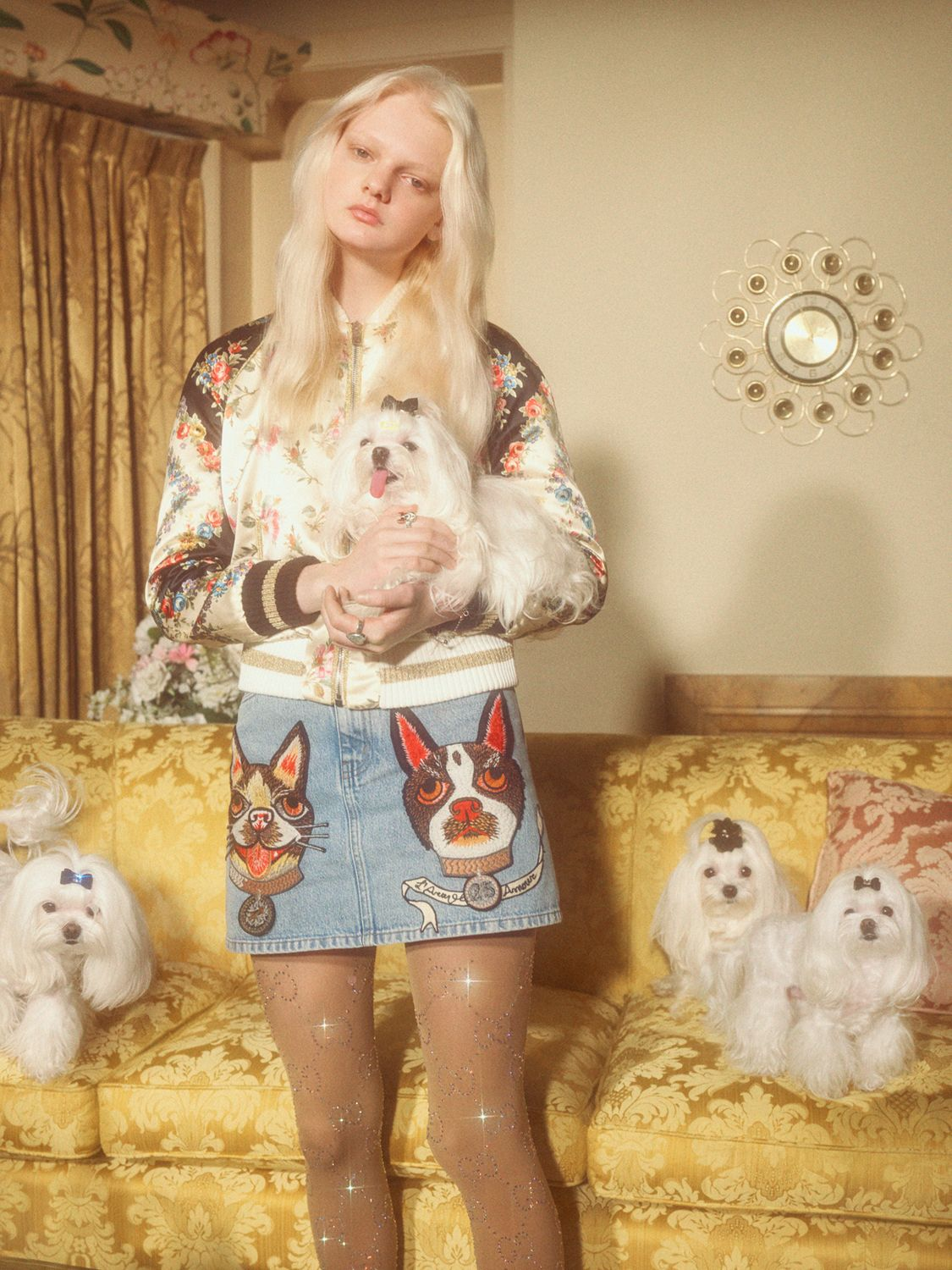 d05bdf41e Gucci Celebrates 2018, The Year of the Dog with New Collection. Petra  Collins photographs models Ellia Sophia Coggins, Unia Pakhomova, Gao Jie,  Dylan Xue, ...