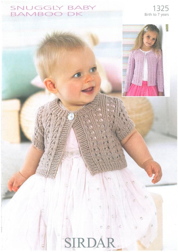 Baby / Childrens Cardigans in Baby Bamboo Dk | Knitting and crochet ...