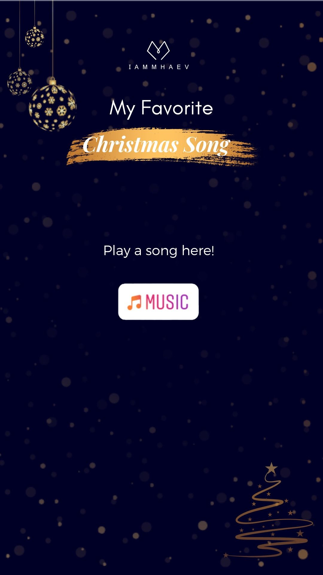 My Favorite Christmas Song INSTAGRAM STORY TEMPLATE