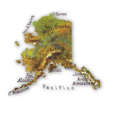 Cartina Stradale Usa Ovest.Cartina Fisica Alaska Alaska Geografia Stati Uniti