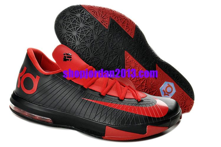 24bd30982bb7 Nike Zoom KD 6(VI) Shoes Black Red Cheap Kevin Durant Shoes