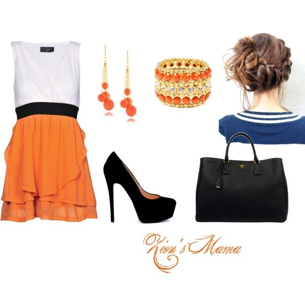 Orange and Black, created by zionsmama on Polyvore
