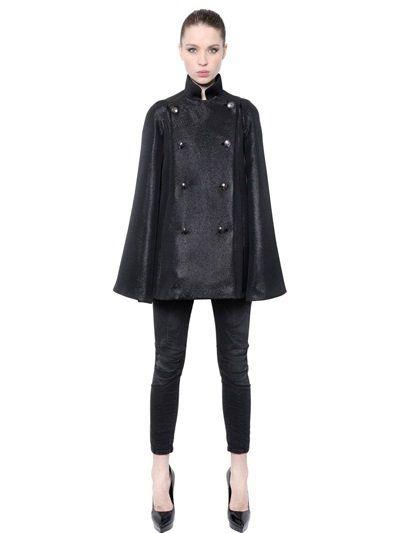 344c754ba8 PIERRE BALMAIN Cotton & Lurex Ottoman Cape, Black. #pierrebalmain #cloth # coats