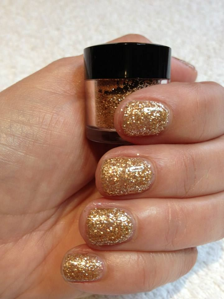 Jessica Nails Rose Gold loose glitter in GELeration gel by TLC ...