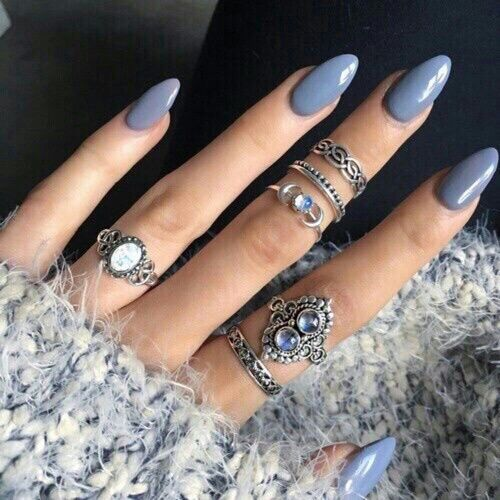 Nails Rings And Blue Image