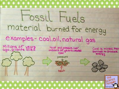 The Science Penguin Anchor Charts Fossil Fuels Activity Science