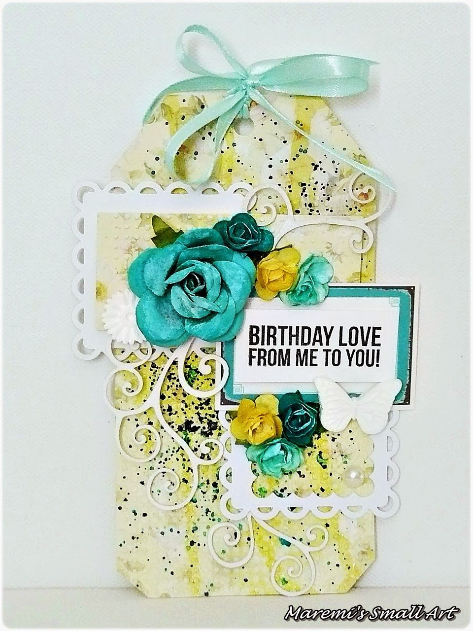 Marta Lapkowska Birthday tags, Happy birthday tag