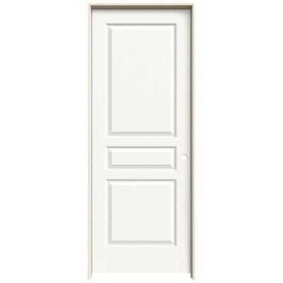 Jeld Wen Textured 3 Panel Painted Molded Prehung Interior Door