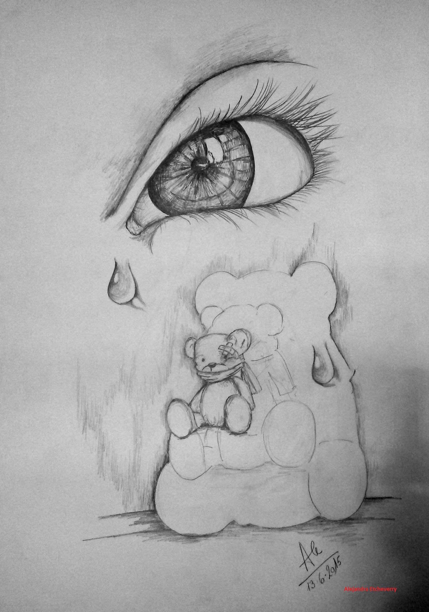 Maltrato Infantil Dibujo A Lapiz 70x50cm Dibujos