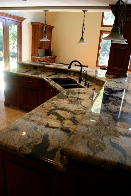 The Granite Gurus Spectrus Granite Kitchen From Mgs By Design Small Cottage Kitchen Granite Kitchen Unique Kitchen Countertops
