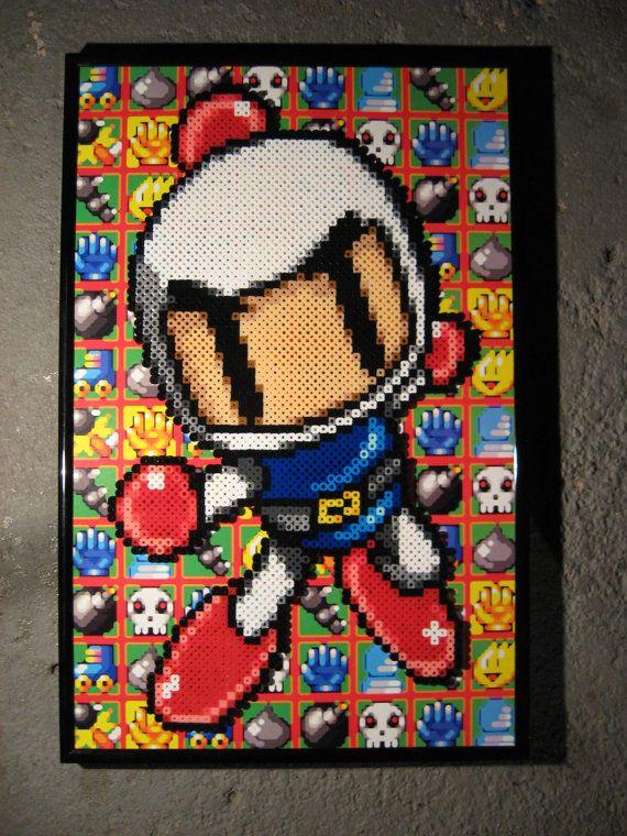 Bomberman | Geek Out | Perler bead art, Video game crafts