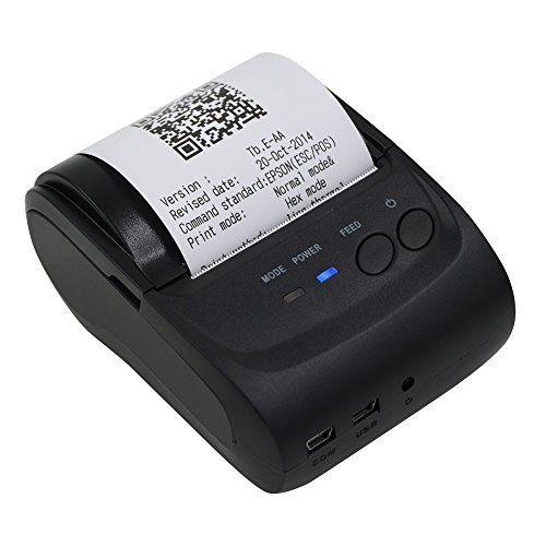 Shiningup Thermal Receipt Printer 58mm Impact Bluetooth Usb Wireless Mobile Pos Receipt Printer For Pc Android Iph Smartphone Printer Thermal Printer Printer