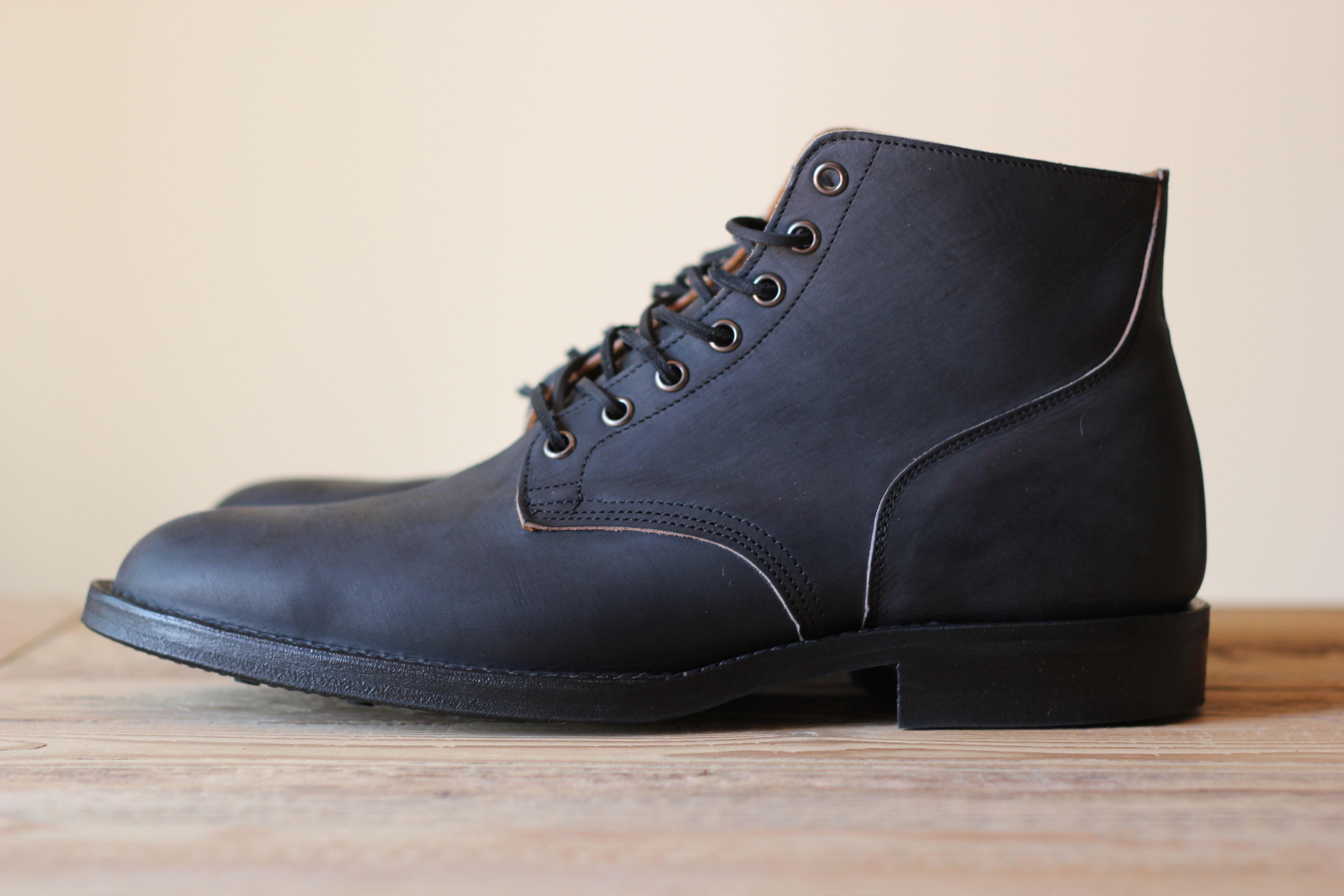 Viberg Matte Black Calf Service Boots