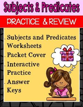 This package includes 3 subject/predicate practice pages, a packet cover page, and 24 subject/predicate cards to be used for Scoot, Task Cards, or Around the World. Practice pages can be put together as a packet, or copied individually. These pages can serve as whole group practice, independent practice, and/or partner practice.