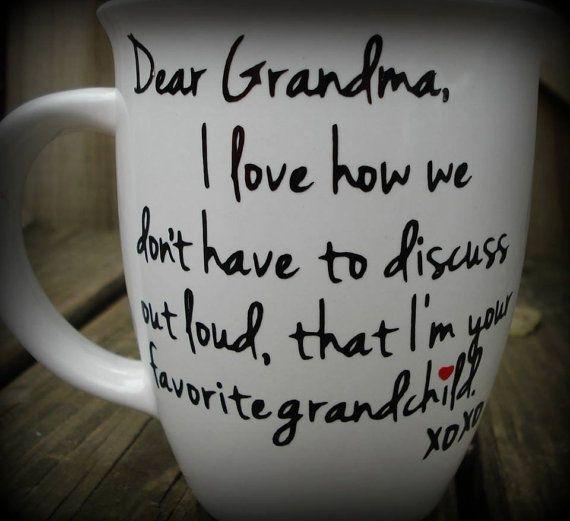 Dear Grandma Favorite Grandchild Custom Made Coffee Mug, Grandma Gift, Grandpa Gift, Personalized Coffee or Tea Mug #grandpagifts