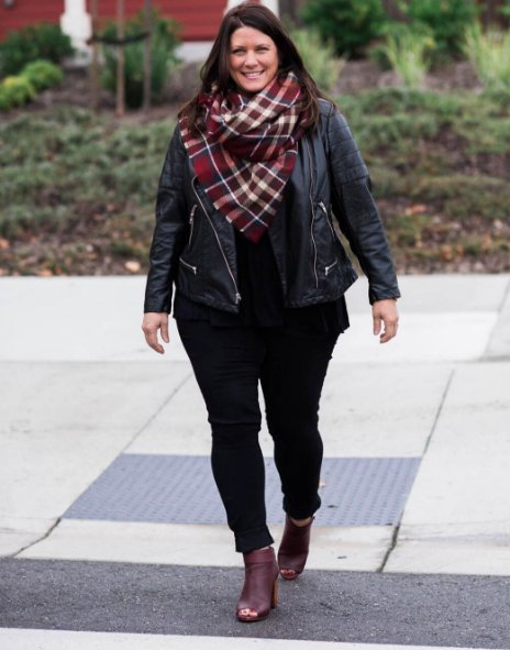 3462eadf7f0 You can t go wrong with burgundy and a leather jacket!