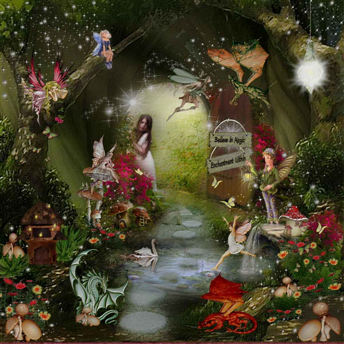 Fairy world....enchantment within.... | Dragon's and ...