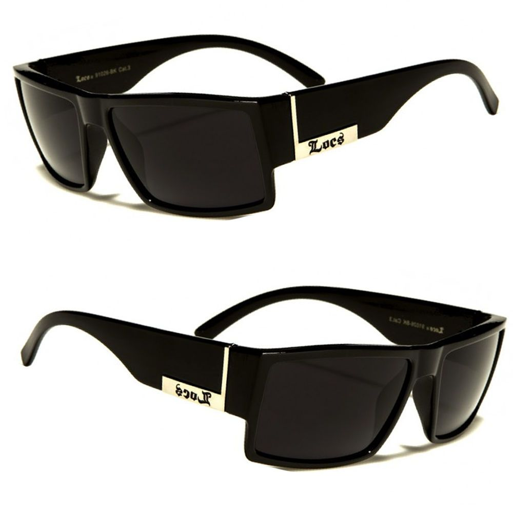 f125a04376a0 MEN DARK LENS GANGSTER BLACK OG SUNGLASSES LOCS BIKER GLASSES USA n ...