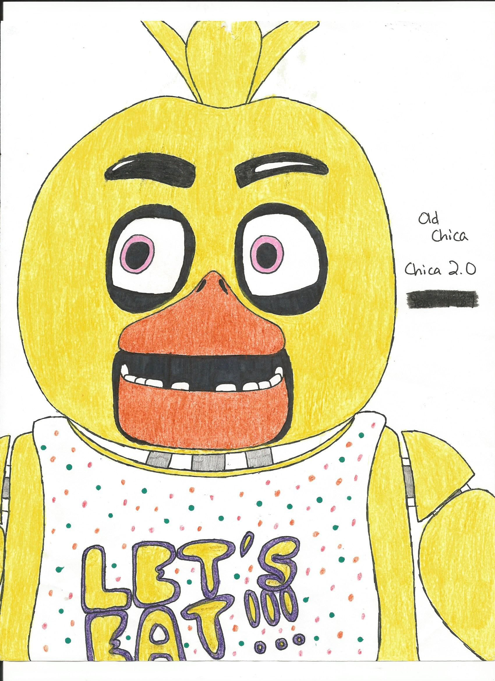38+ Five nights at freddys coloring pages chica inspirations