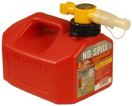 Amazon.com: No-Spill 1415 1-1/4-Gallon Poly Gas Can (CARB Compliant): Patio, Lawn & Garden