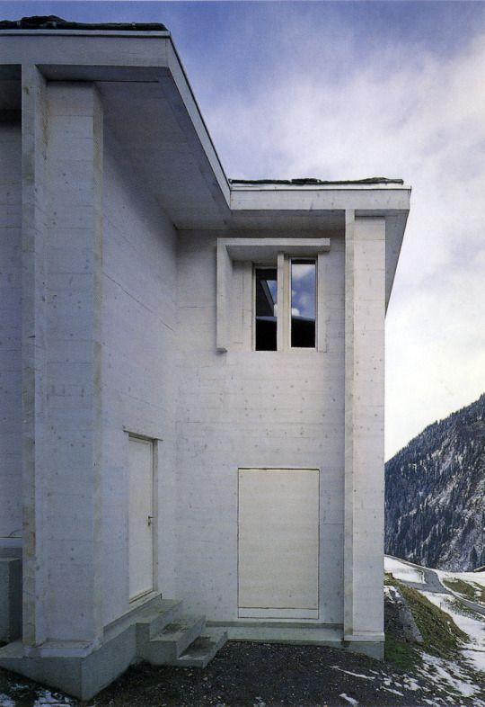 Gion Caminada - Church mortuary, Vrin 2003.  Scans via & via, photos © Christian Richters, Lucia Degonda.
