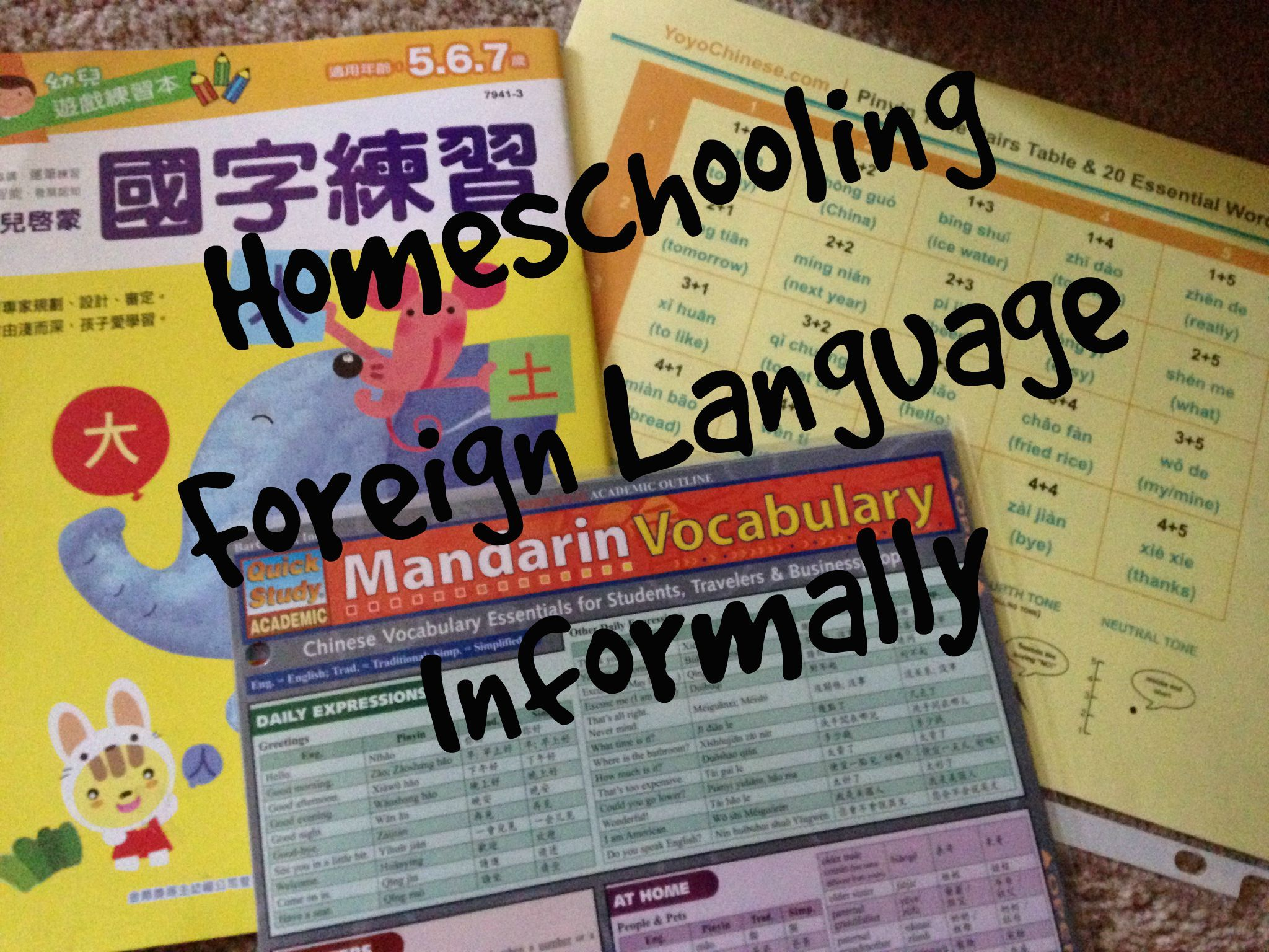 Homeschooling Foreign Language Informally Mkb