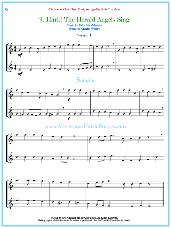 Hark The Herald Angels Sing Flute Duet Sheet Music 25 Christmas Flute Duets Flutemusic Christmasmusic Sheet Music Flute Sheet Music Christmas Sheet Music