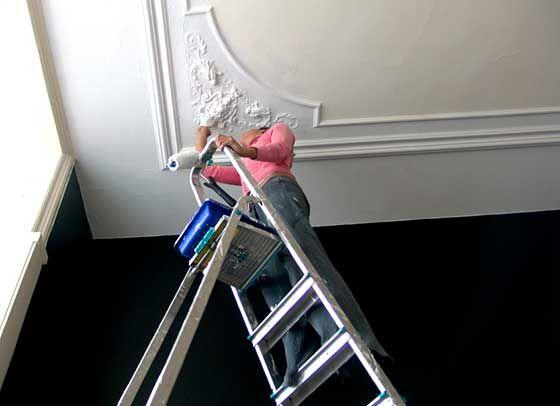 Comment peindre un plafond : peinture plafond | Peinture plafond, Comment peindre un plafond et ...