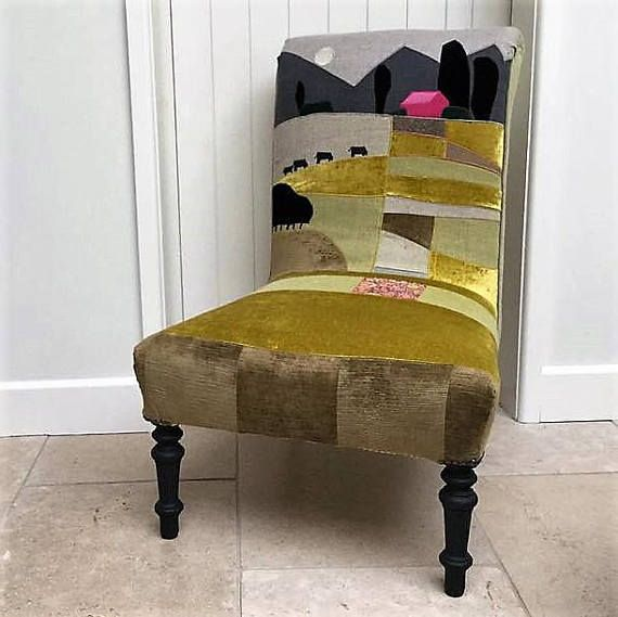 Victorian Armchair/Nursing Chair. Upholstered Patchwork