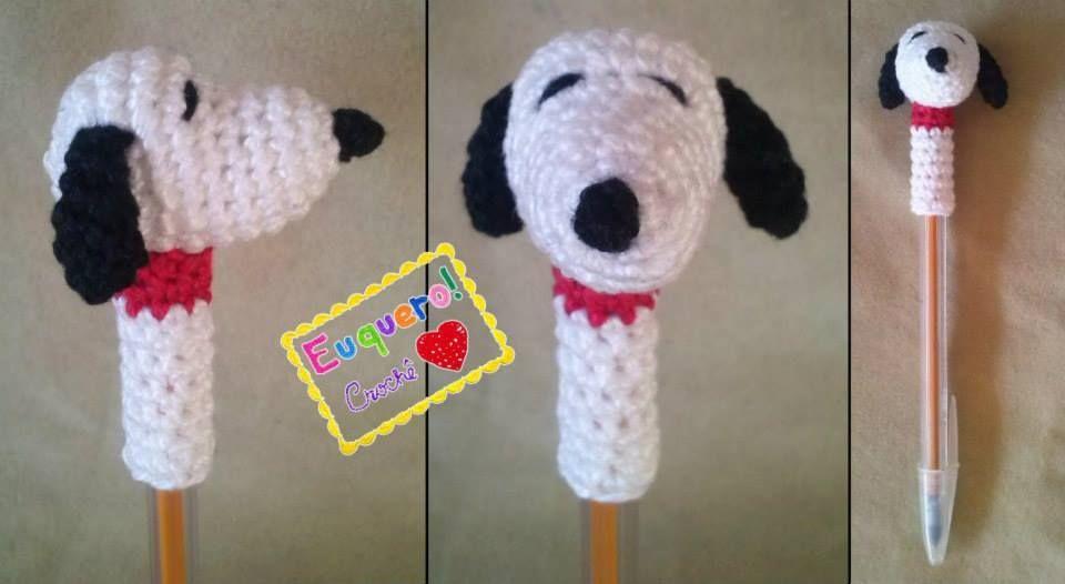 Amigurumi Tutorial Snoopy : Snoopy enfeites de caneta amigurumi pen topper pinterest