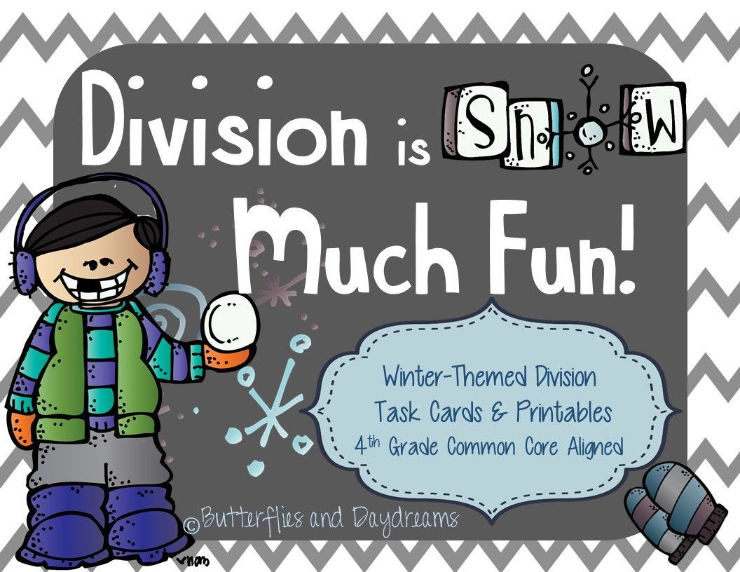 Division Task Cards Winter Themed
