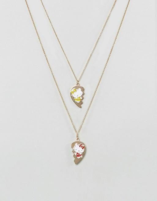 630b5fe2a3d0 Collar de mejores amigas de Hello Kitty   Products   Collares de ...