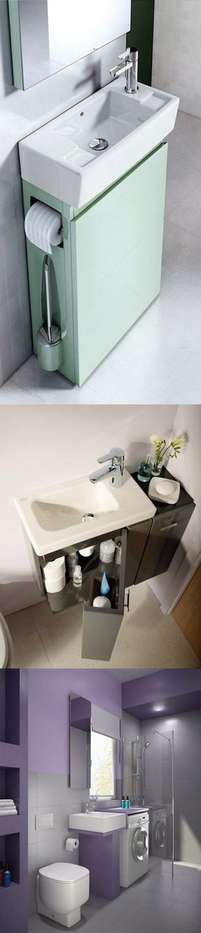 Small bathroom ideas Space-saving modern bathroom furniture - kleine moderne badezimmer