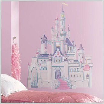 Awesome New Disney Princess Castle Giant Wall Mural   Wall Sticker Outlet New Site.