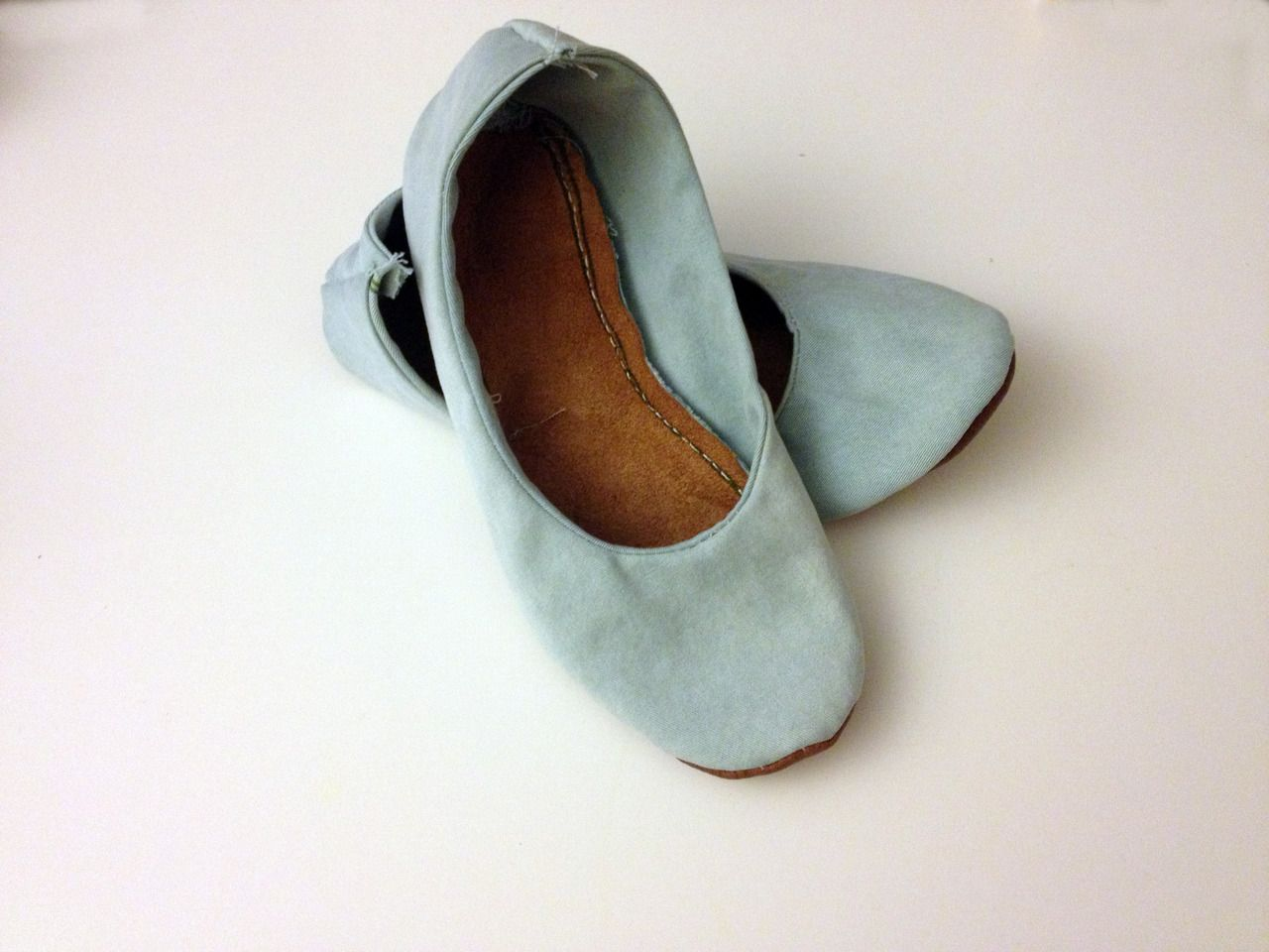 c8632da164d89 DIY foldable ballet-flats Materials old or cheap ballet flat you are ...