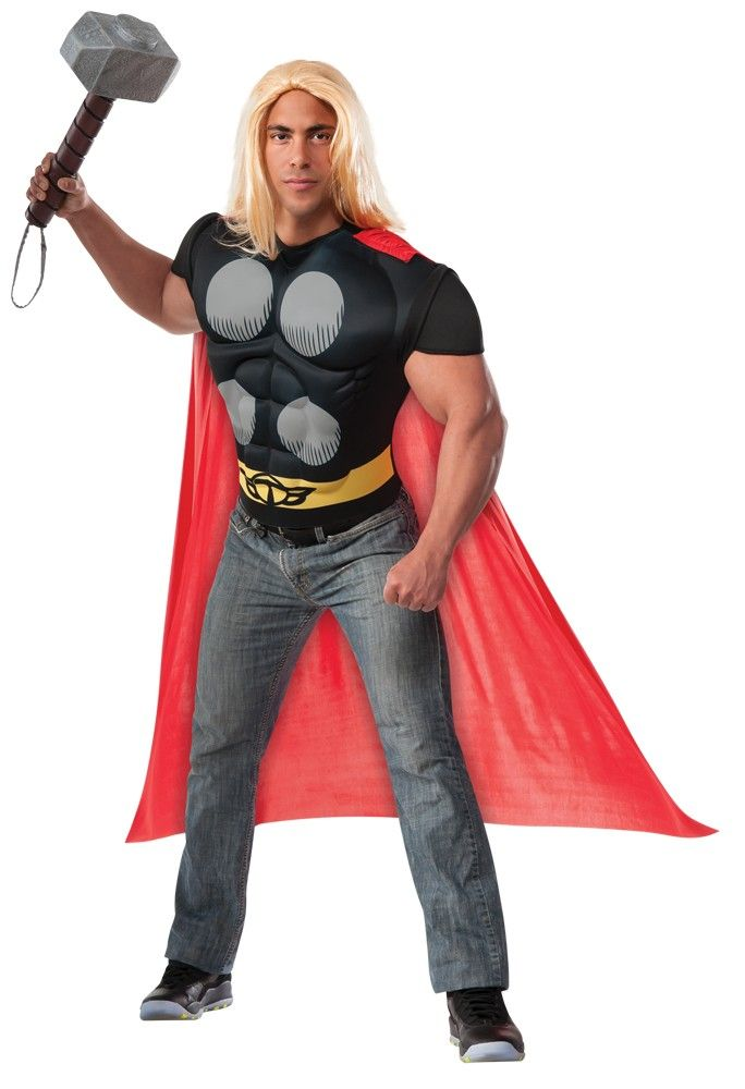 Thor Adult Muscle Chest Costume Kit