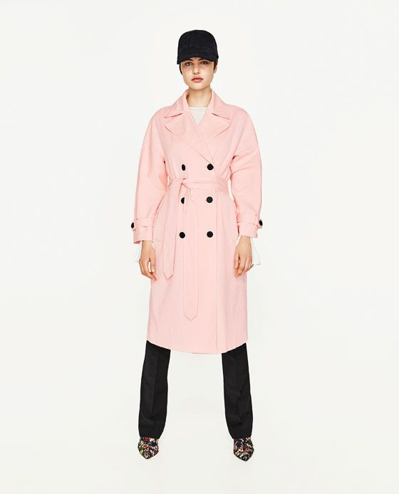 5e0a6b94f1b8c9 Image 1 of BELL SLEEVE TRENCH COAT from Zara