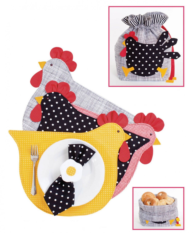 My Chicken Kitchen Pattern by Cynthia Rose, Chicken Placemats ...