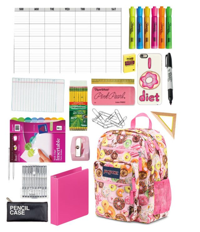 """Back to school✏️"" by gpeach0514 ❤ liked on Polyvore featuring interior, interiors, interior design, home, home decor, interior decorating, JanSport, Cross, Avery and Rifle Paper Co"