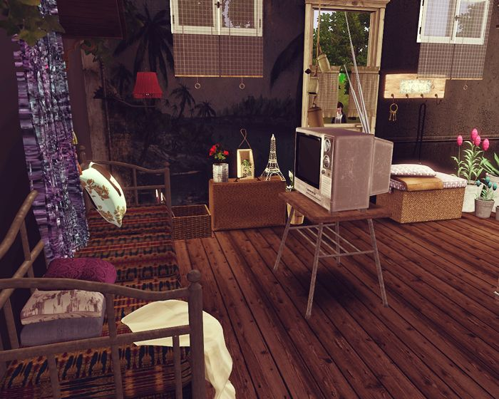 Eclectic room for the Sims 3 designed by ohmypominit