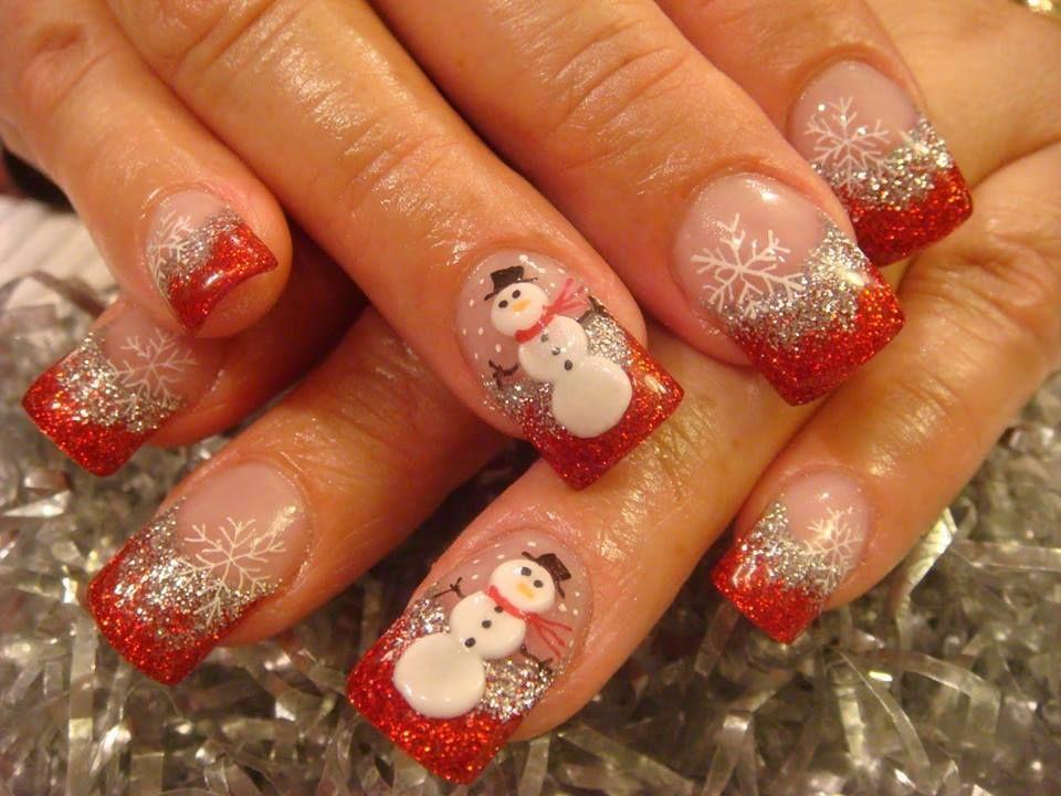 Nol Christmas Winter Nails Pinterest Winter Nails