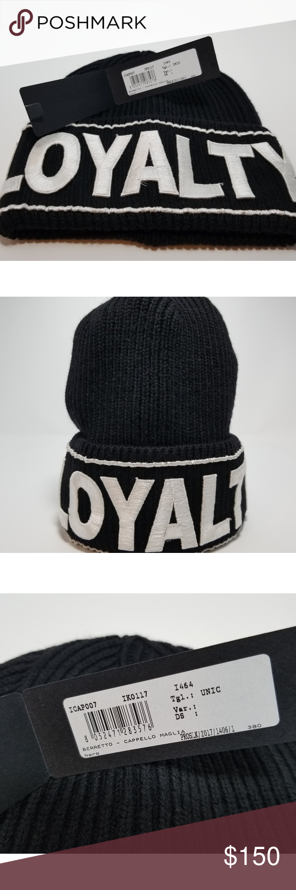 16df69e979c03 Versace LOYALTY beanie hat