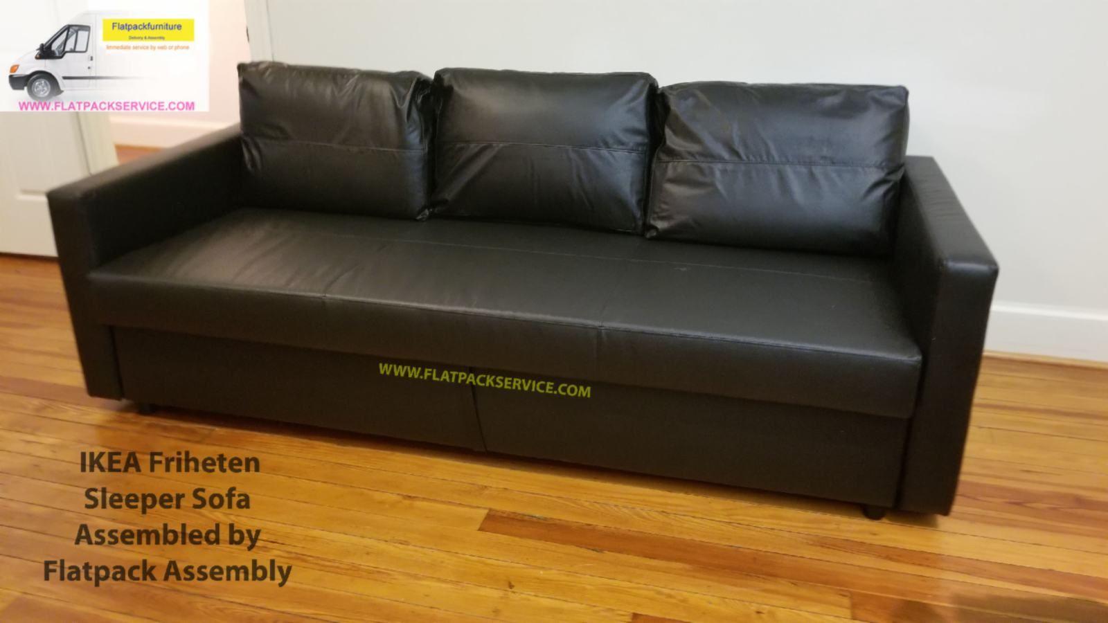 Friheten Sleeper Sofa Black Article Number 603 411 38 Assembled By Flatpack Assembly 240