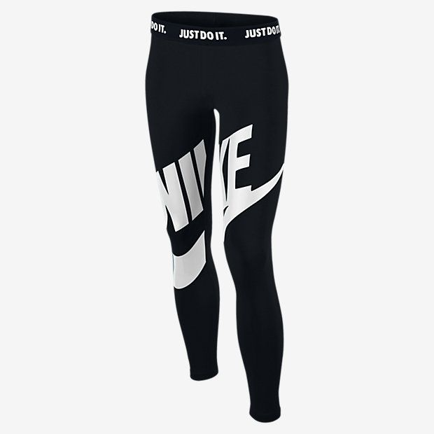 Nike Leg-A-See Futura Graphic Girls Tights - Black : Clothes E34k4973