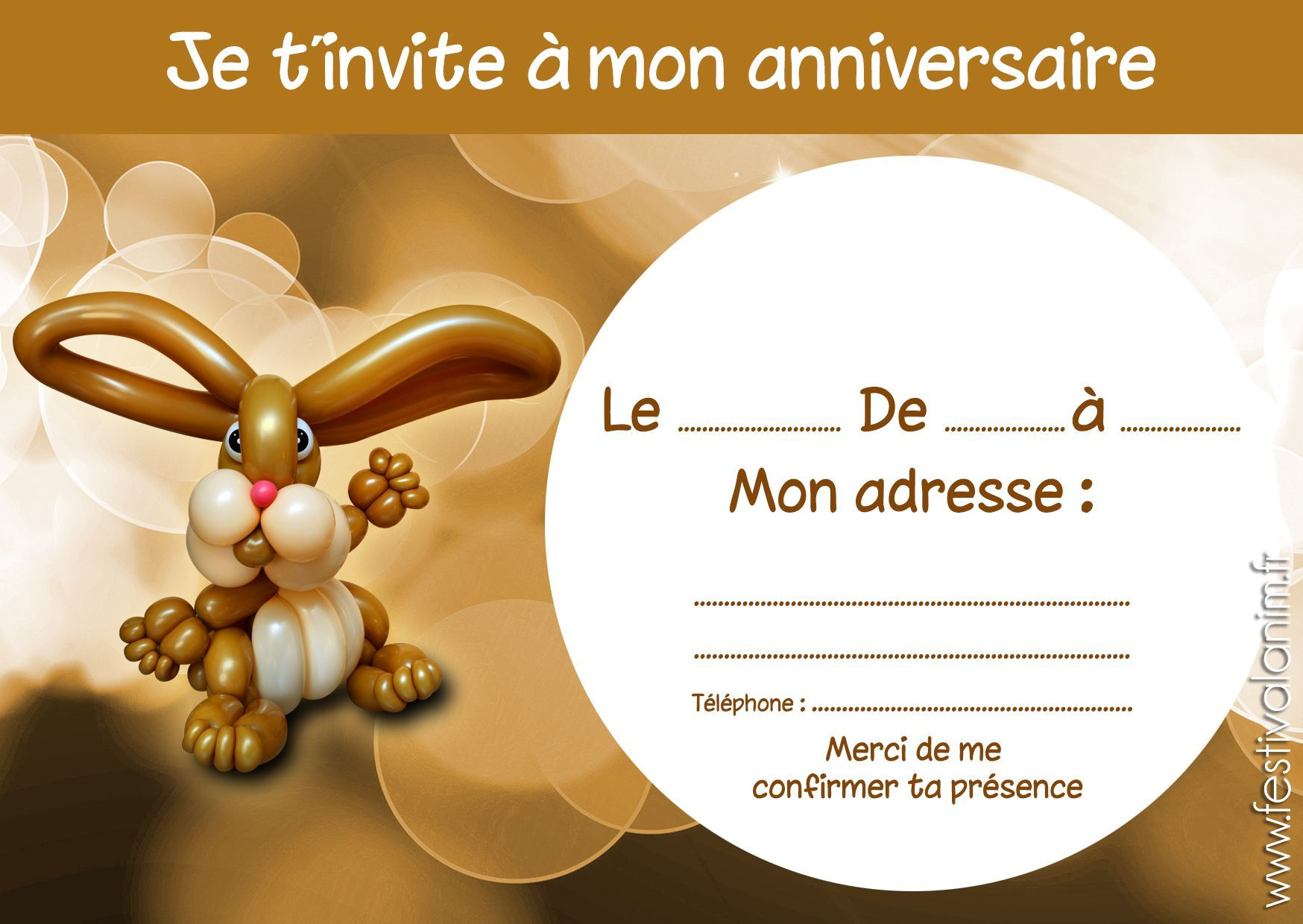 Carte D Invitation Anniversaire Boum Carte Invitation