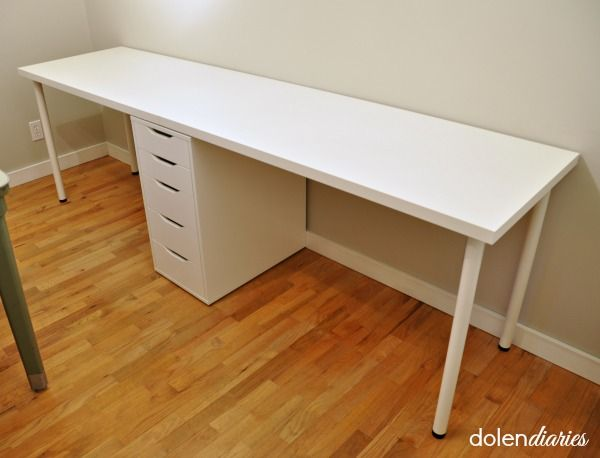 Two Person Workstation My Craftily Ever After Long Desk Built In Desk Guest Room Office
