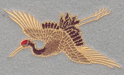 Crane flying small<br> 3.81w X 1.98h