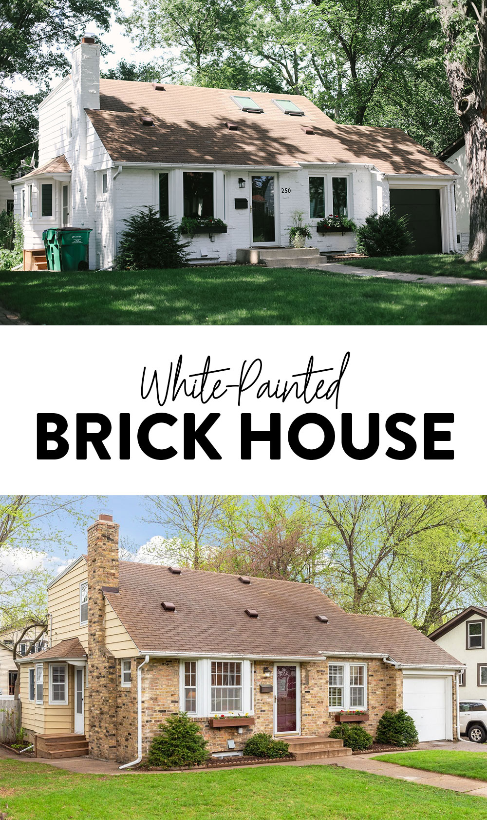 White Painted Brick House Mid Century Modern Fit Foodie Finds