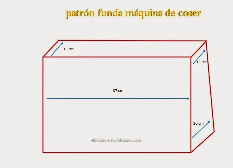 DIY Funda para la máquina de coser | Máquina de coser | Pinterest ...
