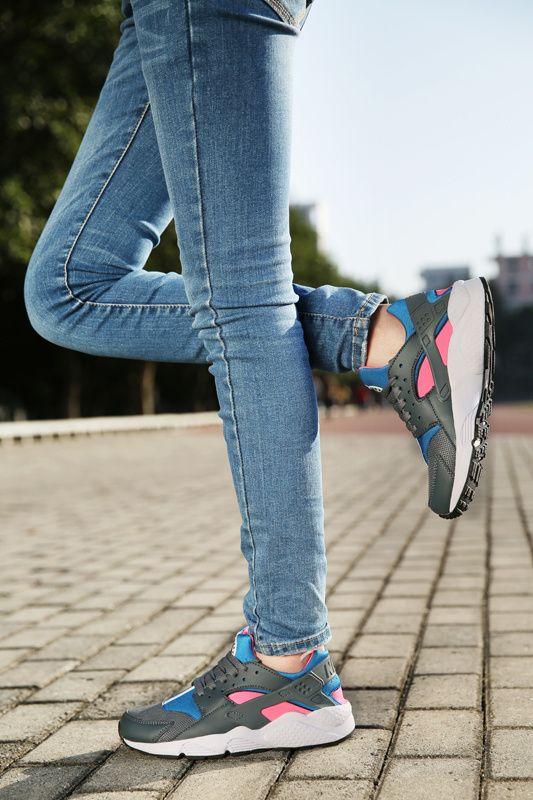 #esty Woman Nike Air Huarache Cobalt Magenta On Feet